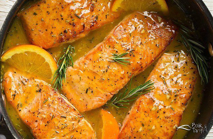 Portakallı Somon Tarifi